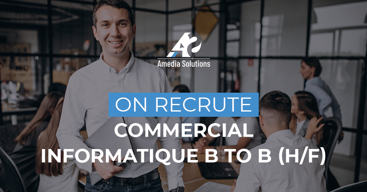 On recrute : Commercial informatique B to B (H/F)