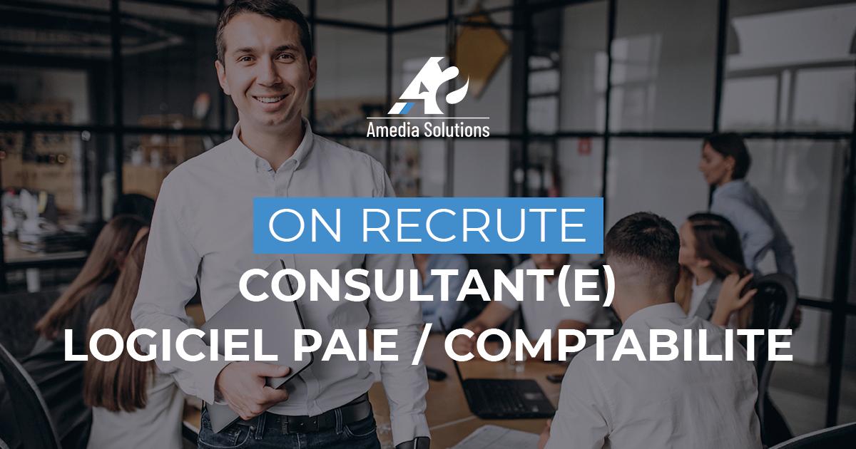 On recrute : CONSULTANT(E) LOGICIEL PAIE/ COMPTABILITE