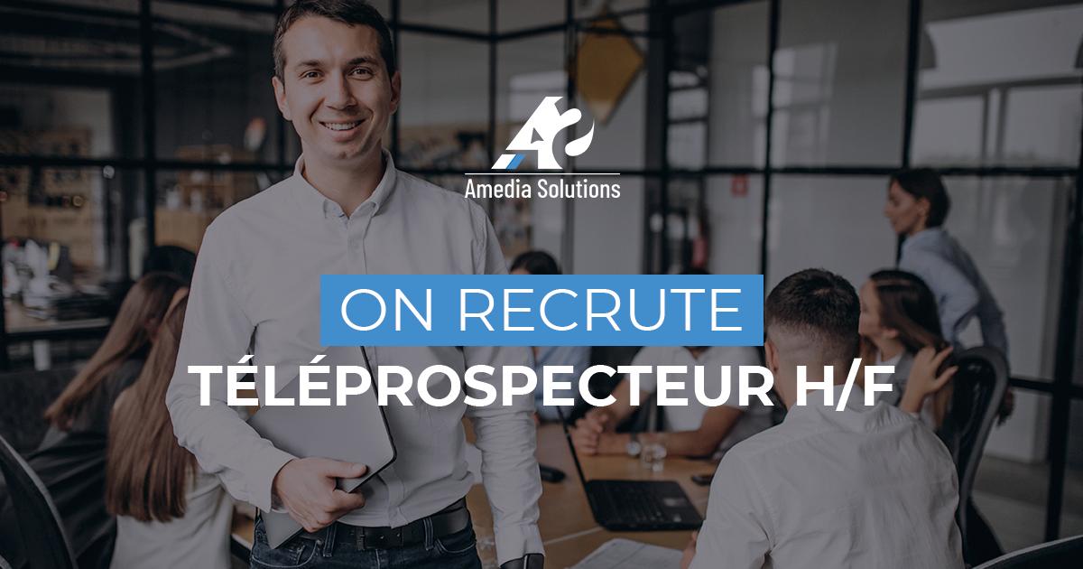 Recrutement téléprospecteur Brive Amedia Solutions